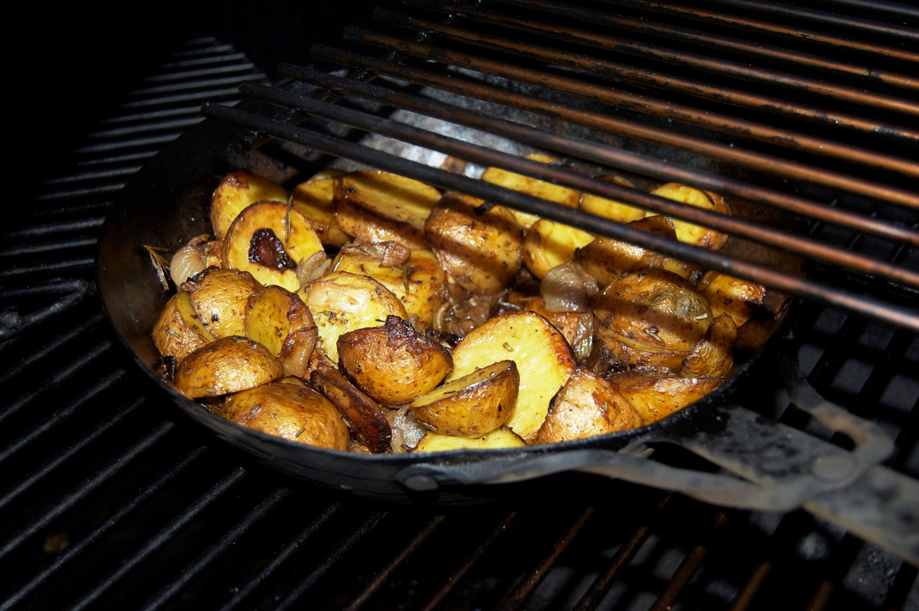 Rosmarinkartoffeln aus dem Smoker